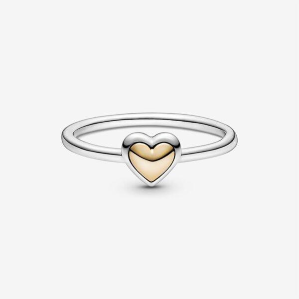 GIOIELLERIA-PRINCESS-Anello-con-cuore-dorato-a-cupola1