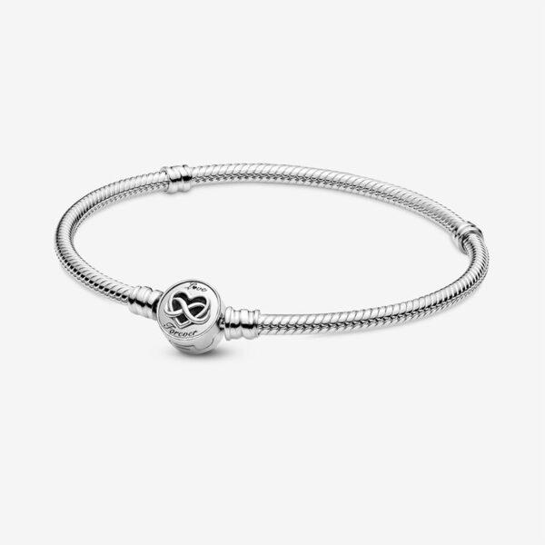 GIOIELLERIA-PRINCESS-Bracciale-Pandora-Moments-con-maglia-snake-e-chiusura-con-cuore-e-simbolo-dell-infinito