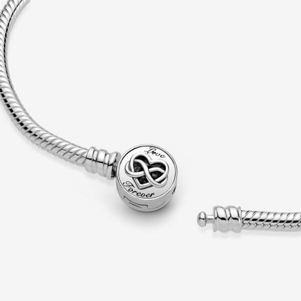 GIOIELLERIA-PRINCESS-Bracciale-Pandora-Moments-con-maglia-snake-e-chiusura-con-cuore-e-simbolo-dell-infinito2