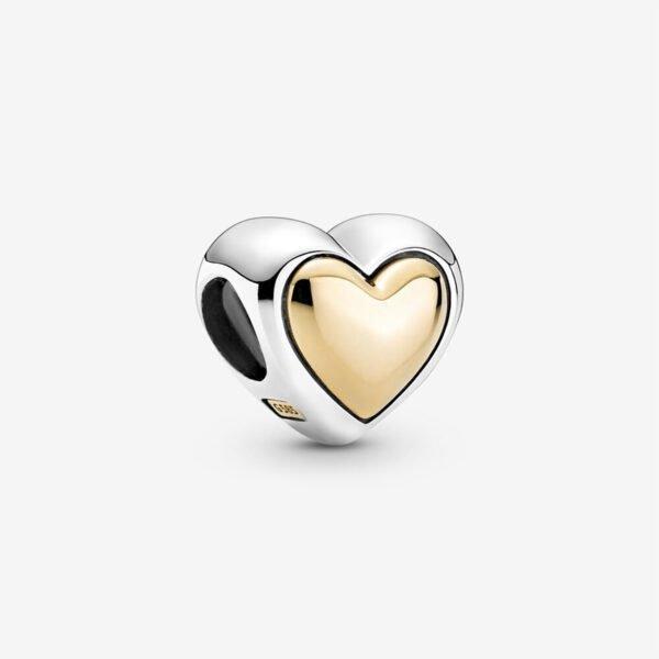 GIOIELLERIA-PRINCESS-Charm-con-cuore-dorato-a-cupola