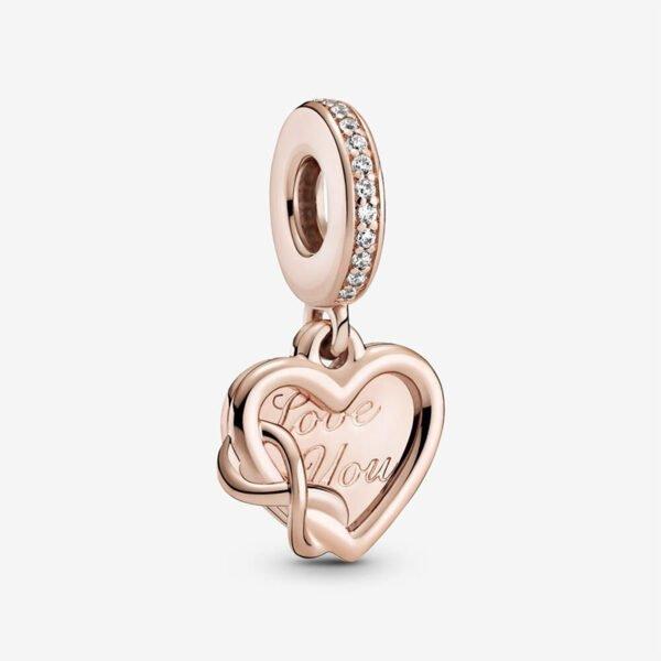 GIOIELLERIA-PRINCESS-Charm-pendente-a-cuore-Amore-infinito