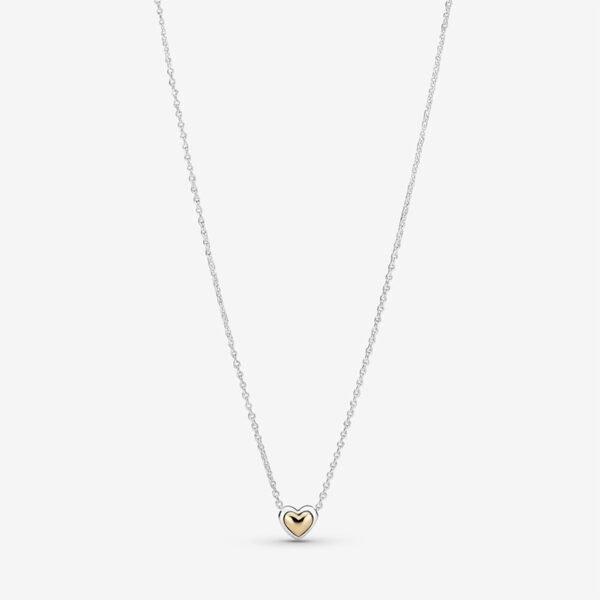 GIOIELLERIA-PRINCESS-Collier-con-cuore-dorato-a-cupola