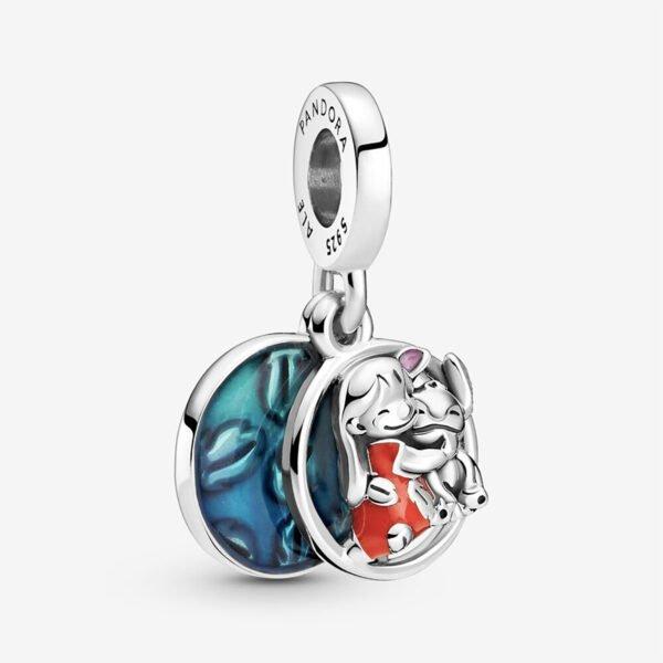 GIOIELLERIA-PRINCESS-Disney-charm-pendente-Famiglia-Lilo-e-Stitch