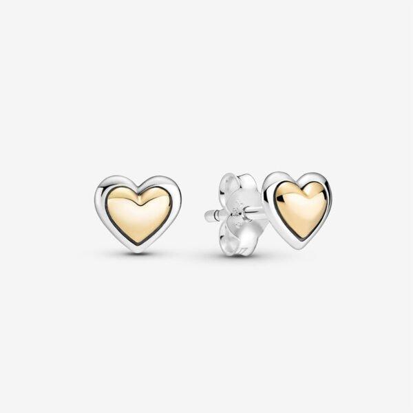 GIOIELLERIA-PRINCESS-Orecchini-a-lobo-con-cuore-dorato-a-cupola