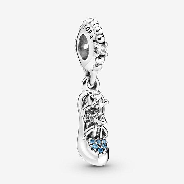 PANDORA - Disney charm pendente Scarpetta di Cristallo di Cenerentola e Topini
