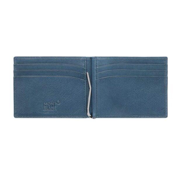 MONTBLANC - Portafoglio in pelle con clip per banconote Meisterstück