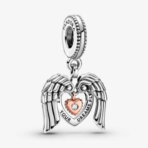 PANDORA - Charm pendente Cuore e ali d'angelo Pandora Club 2021