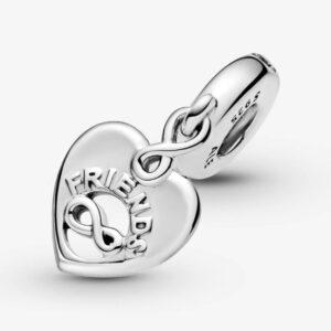 PANDORA - Charm pendente a cuore Amiche per sempre