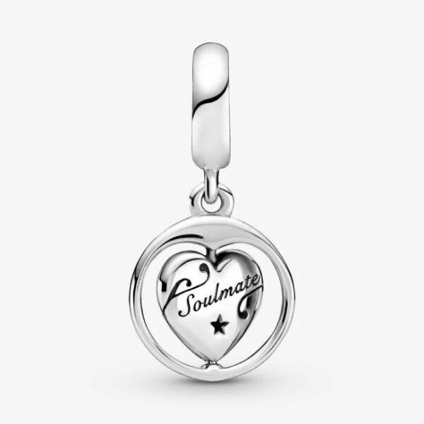 PANDORA - Charm pendente girevole Anima gemella Forever & Always