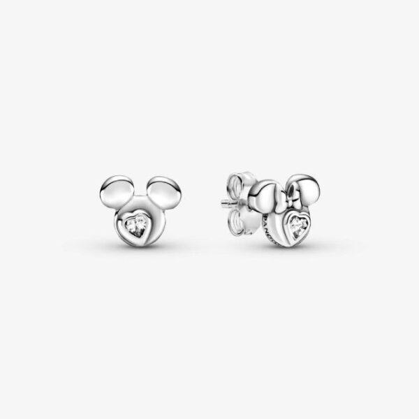 PANDORA - Disney orecchini a lobo Silhouette Mickey Mouse e Minnie
