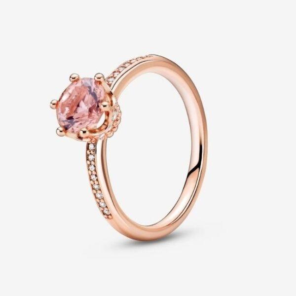 Pandora-Anello-con-solitario-Corona-rosa-scintillante-1