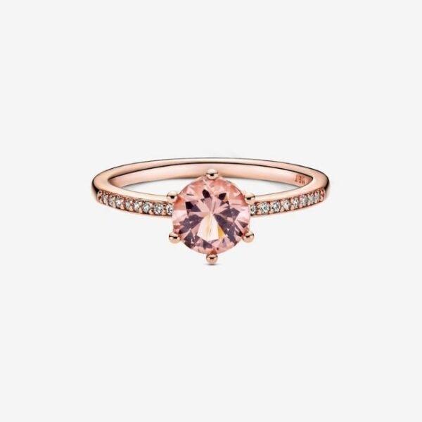 Pandora-Anello-con-solitario-Corona-rosa-scintillante-2