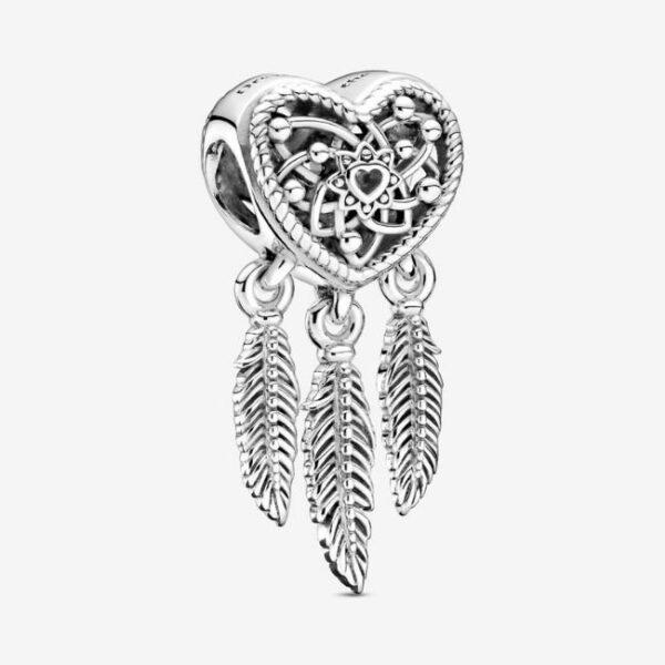 Pandora-Charm-Acchiappasogni-con-tre-piume-e-cuore-openwork-1