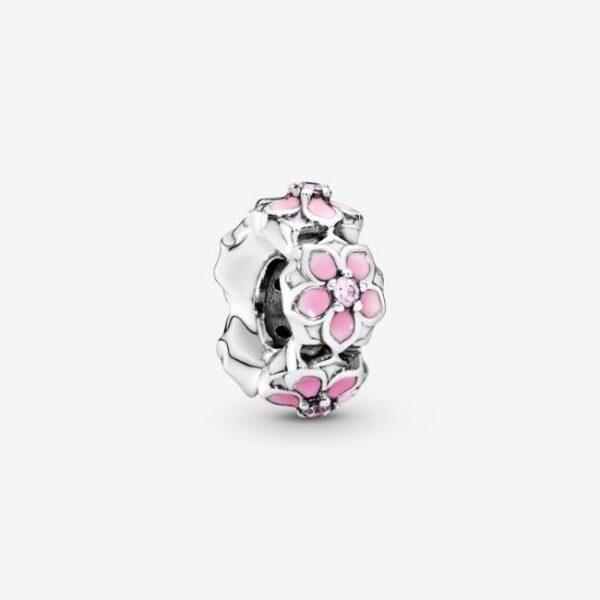 Pandora-Charm-distanziatore-Magnolia-rosa-1