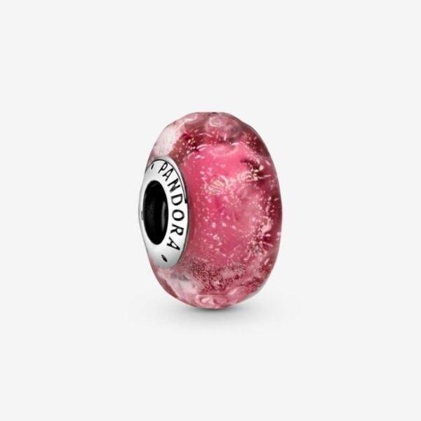 Pandora-Charm-in-vetro-di-Murano-rosa-con-onde-1