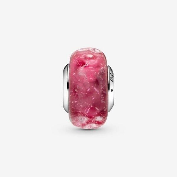 Pandora-Charm-in-vetro-di-Murano-rosa-con-onde-2