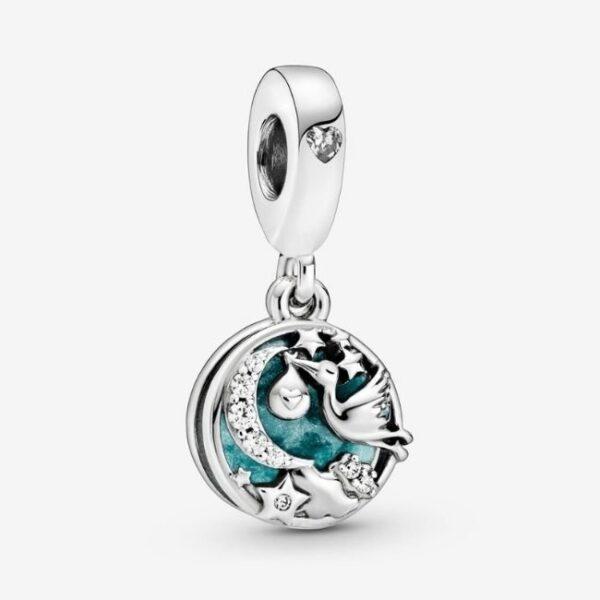 Pandora-Charm-pendente-Cicogna-e-stelle-scintillanti-1