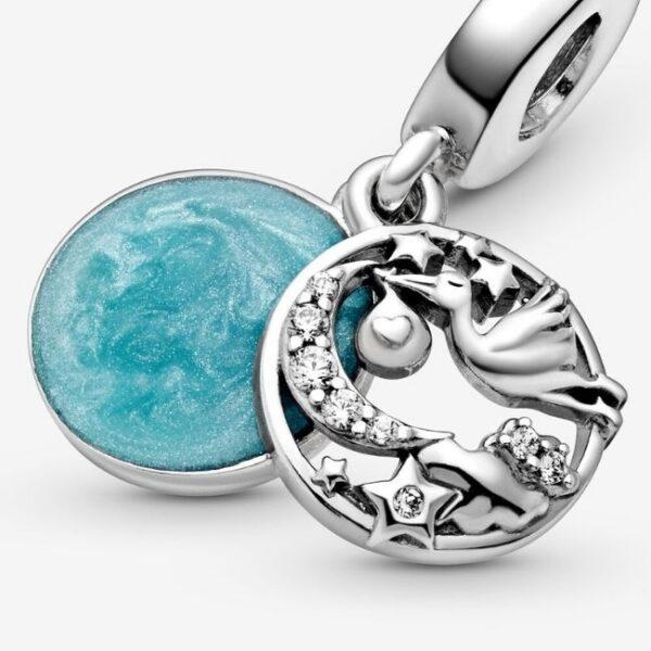 Pandora-Charm-pendente-Cicogna-e-stelle-scintillanti-4