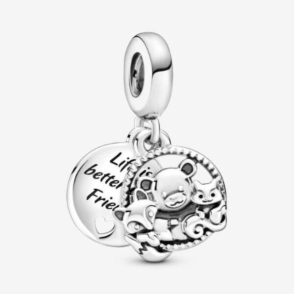 Pandora-Charm-pendente-Orso-volpe-e-scoiattolo-1