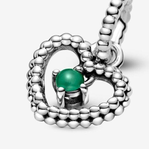 Pandora-Charm-pendente-a-cuore-verde-bosco-decorato-con-sfere-Purely-4