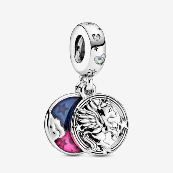 Pandora-Charm-pendente-doppio-Unicorno-magico-1