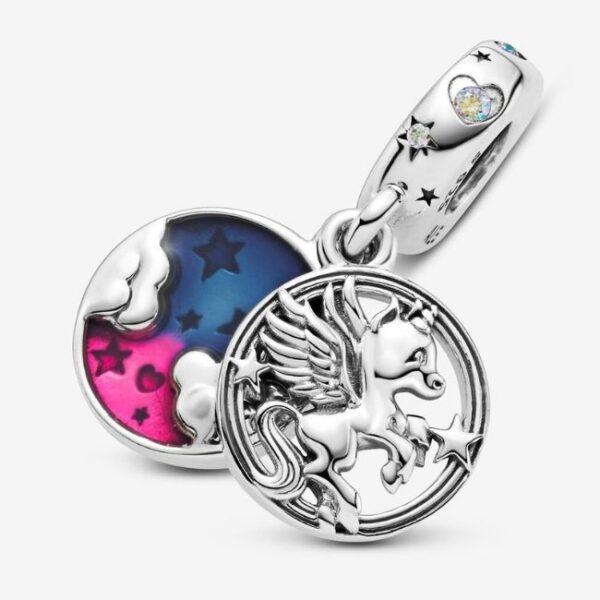 Pandora-Charm-pendente-doppio-Unicorno-magico-4