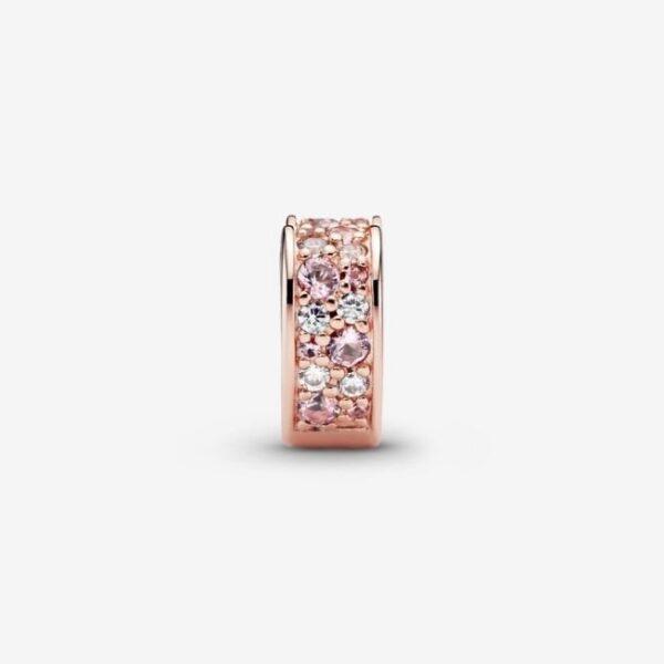 Pandora - Clip a cuore con pavé rosa 2